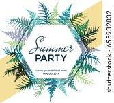 summer party poster  banner ... | Shutterstock .eps vector #655932832