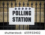british election polling... | Shutterstock . vector #655933402