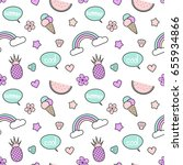 cute colorful seamless vector... | Shutterstock .eps vector #655934866