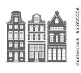set of 3 shape amsterdam ... | Shutterstock .eps vector #655935556