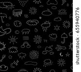 weather seamless pattern | Shutterstock .eps vector #655940776