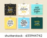 set of trendy hand lettering... | Shutterstock .eps vector #655944742