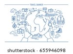 concept of travel and tourism.... | Shutterstock .eps vector #655946098
