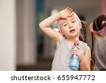 girl child is tired after... | Shutterstock . vector #655947772