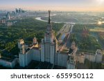 moscow state university and... | Shutterstock . vector #655950112