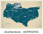modern map   kent county with...   Shutterstock .eps vector #655952452