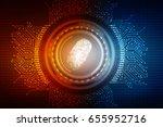 fingerprint scanning technology ... | Shutterstock . vector #655952716