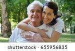 granddaughter  nurse  caring... | Shutterstock . vector #655956835