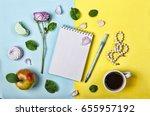 style minimalism. an open... | Shutterstock . vector #655957192