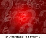 Abstract letters red background - stock photo
