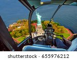 helicopter cockpit with pilot... | Shutterstock . vector #655976212