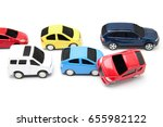 car accident concept image with ... | Shutterstock . vector #655982122