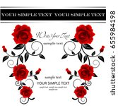 wedding card or invitation with ...   Shutterstock .eps vector #655984198