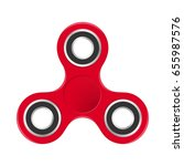 red colorful fidget spinner... | Shutterstock .eps vector #655987576