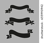 set of banners ribbons loop | Shutterstock .eps vector #655993942