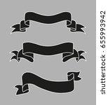set of banners ribbons loop | Shutterstock .eps vector #655993942