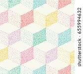 color dotted cubes seamless... | Shutterstock .eps vector #655994632