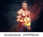 shirtless abdominal suntanned... | Shutterstock . vector #655998166