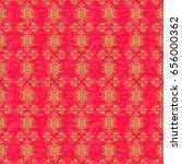 vector luxury gold pattern.... | Shutterstock .eps vector #656000362