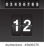 mechanical scoreboard vector | Shutterstock .eps vector #65600170