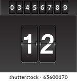 mechanical scoreboard vector   Shutterstock .eps vector #65600170