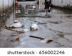 garbage after flood  dirty... | Shutterstock . vector #656002246
