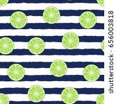 slice lime  citrus white... | Shutterstock .eps vector #656003818