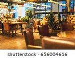 blurred restaurant or cafe...   Shutterstock . vector #656004616