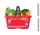 supermarket shopping basket... | Shutterstock .eps vector #656005465