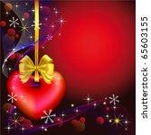 vector christmas background... | Shutterstock .eps vector #65603155