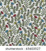 seamless floral pattern on grey.... | Shutterstock .eps vector #65603527
