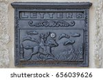 Vintage Metal Letter Box With...