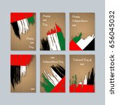 uae patriotic cards for... | Shutterstock .eps vector #656045032