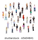 people concept isolated   Shutterstock . vector #65604841