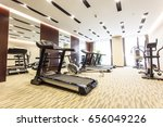 treadmills and gym | Shutterstock . vector #656049226