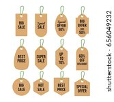 set of price tag and labels | Shutterstock .eps vector #656049232