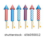 set of  pyrotechnic  firework ... | Shutterstock .eps vector #656050012