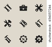 set of 9 editable tool icons.... | Shutterstock .eps vector #656057266