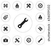 set of 12 editable tool icons....