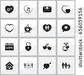 Set Of 16 Editable Heart Icons...