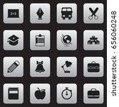set of 16 editable education... | Shutterstock .eps vector #656060248