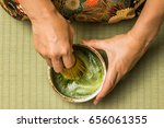 matcha in japan and how to make ... | Shutterstock . vector #656061355