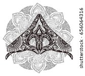 ornate spiritual symbols yoga... | Shutterstock .eps vector #656064316