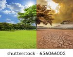 a global warming concept image... | Shutterstock . vector #656066002
