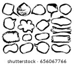 set of round grunge vector... | Shutterstock .eps vector #656067766