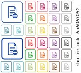 remove document color flat... | Shutterstock .eps vector #656069092