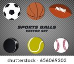 sports balls vector set.... | Shutterstock .eps vector #656069302