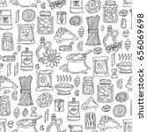 vector seamless pattern with... | Shutterstock .eps vector #656069698