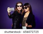 attractive it girls in trendy...   Shutterstock . vector #656072725