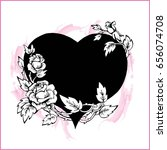drawing heart entwined with... | Shutterstock .eps vector #656074708